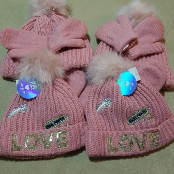 6e6435f691d Childrens Place Girls Winter Hat   Mittens Set